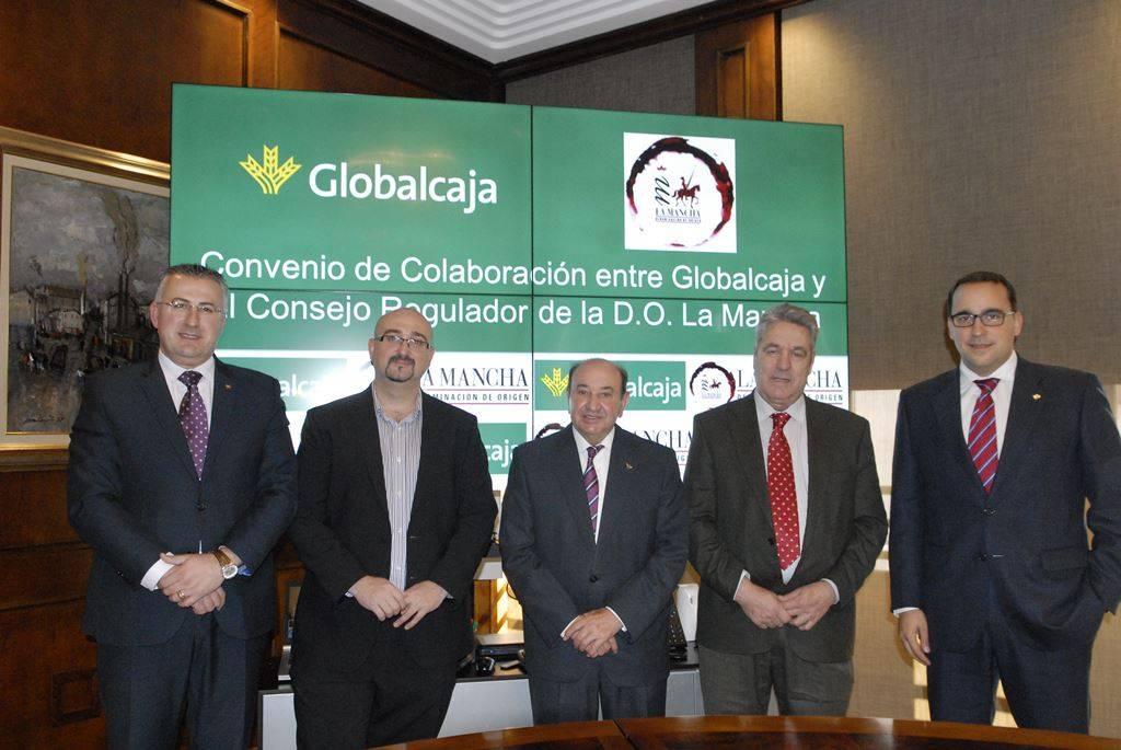 globalcaja y la promocion del vino - DO La Mancha recibe el apoyo de Globalcaja para la promoción del vino