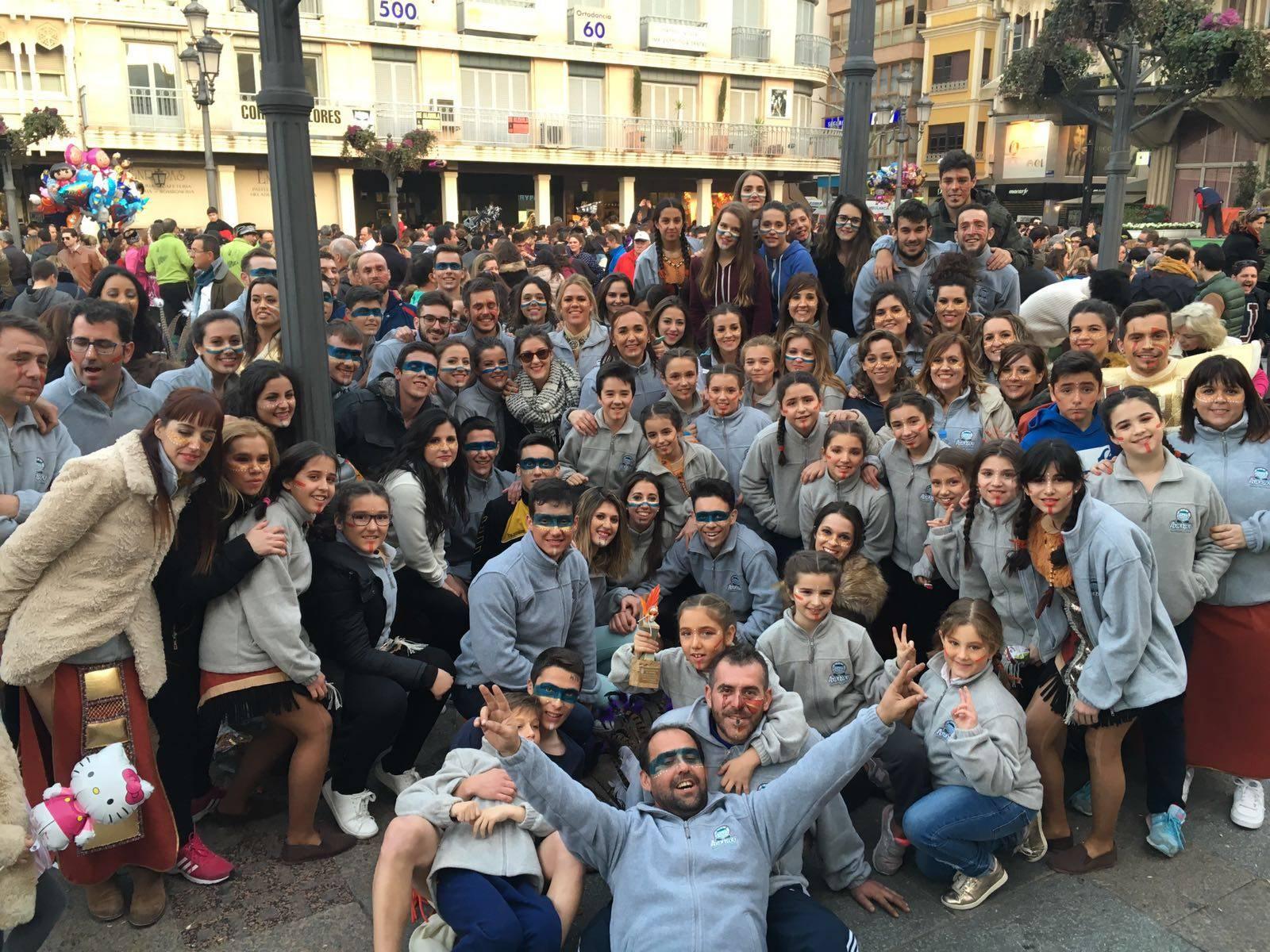 """La asociación cultural """"Axonsou"""" de Herencia logra el cuarto premio del desfile de Piñata de Ciudad Real 2016"""