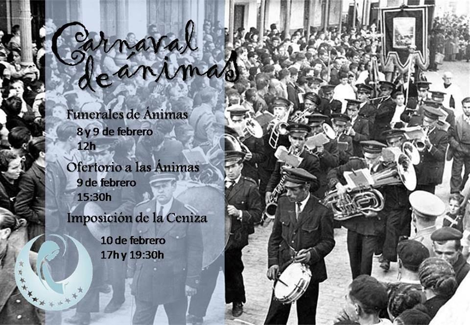 Cartel carnaval de animas de Herencia - Carnaval de Ánimas en la parroquia de Herencia