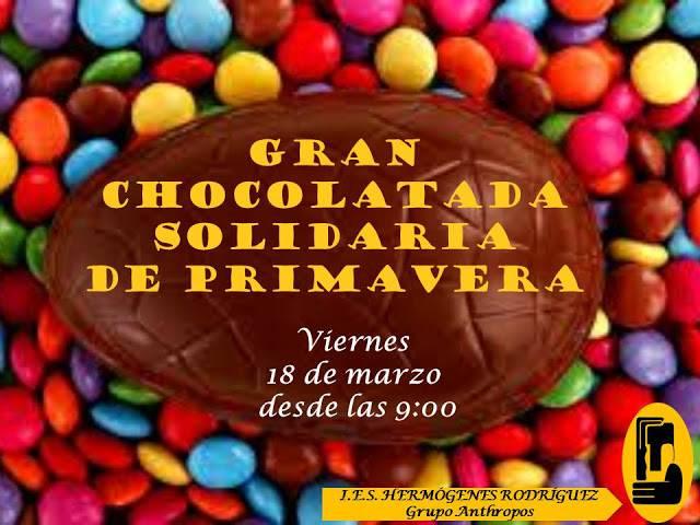 CHOCOLATADA PRIMAVERA Anthopos hermogenes rodriguez herencia - Chocolatada solidaria del grupo Anthropos del IES Hermógenes Rodríguez