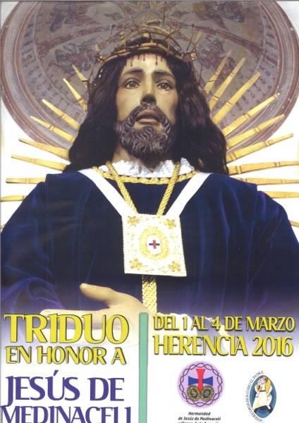Cartel Jesus de Medinaceli 2016 herencia - Triduo y vía crucis en honor a Jesús de Medinaceli