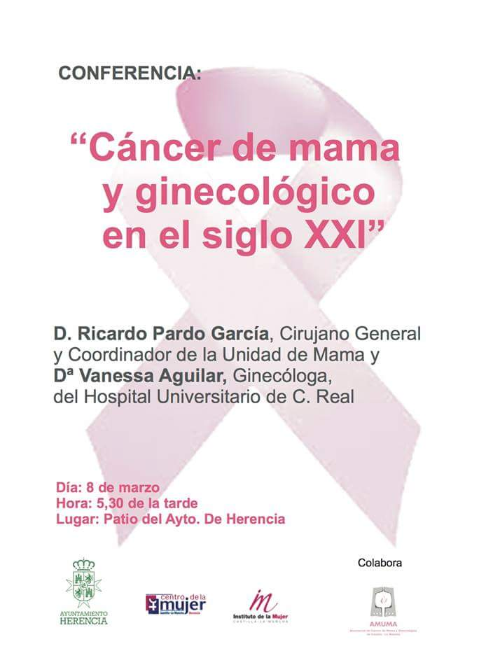 Conferencia sobre el cáncer de mama y ginecológico en Herencia