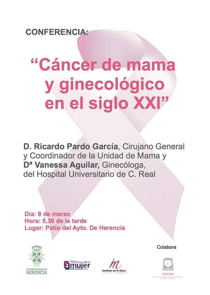Conferencia sobre el cáncer de mama y ginecológico en Herencia - Conferencia sobre el cáncer de mama y ginecológico