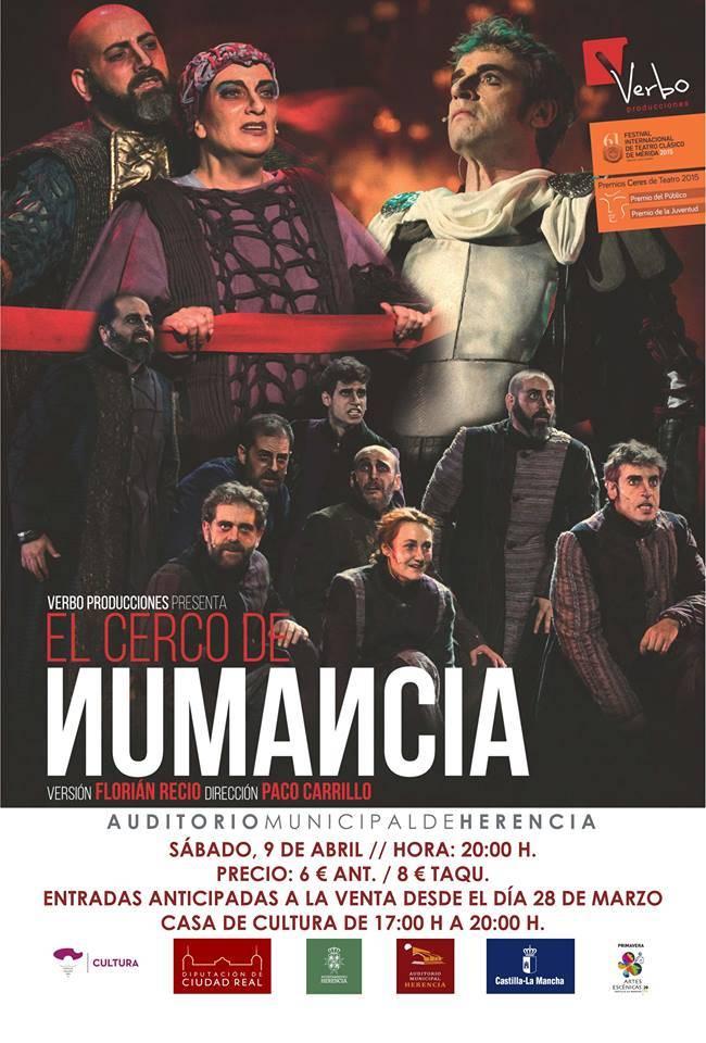El cerco de numancia en Herencia - A la venta las entradas para ver El Cerco de Numancia