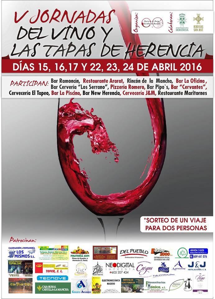 La V Ruta del Vino y la Tapa de Herencia comienza el 15 de abril 1