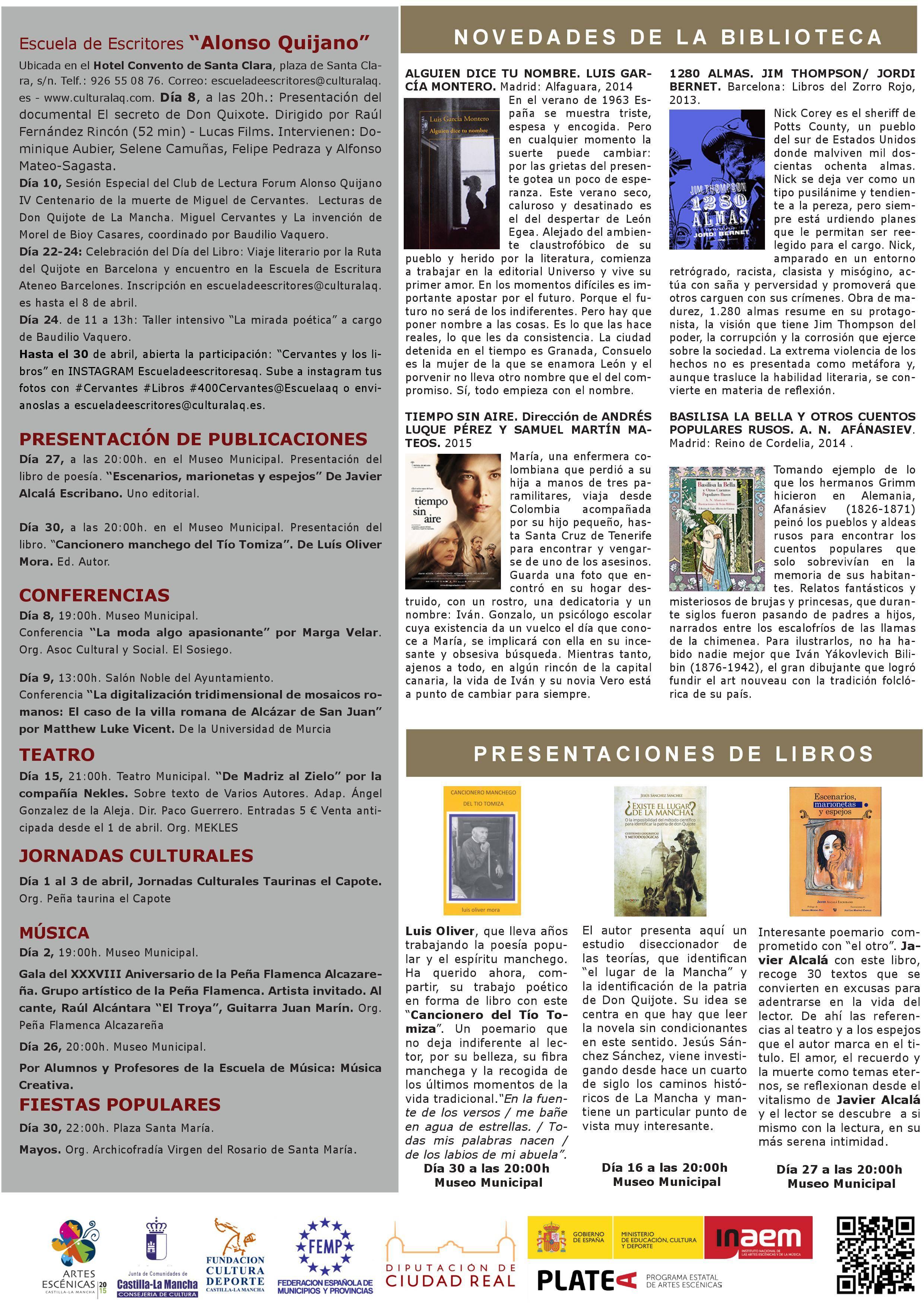 boletin cultural alcazar de san juan abril 2016 0004 - El Patronato de Cultura presenta las actividades para abril 2016