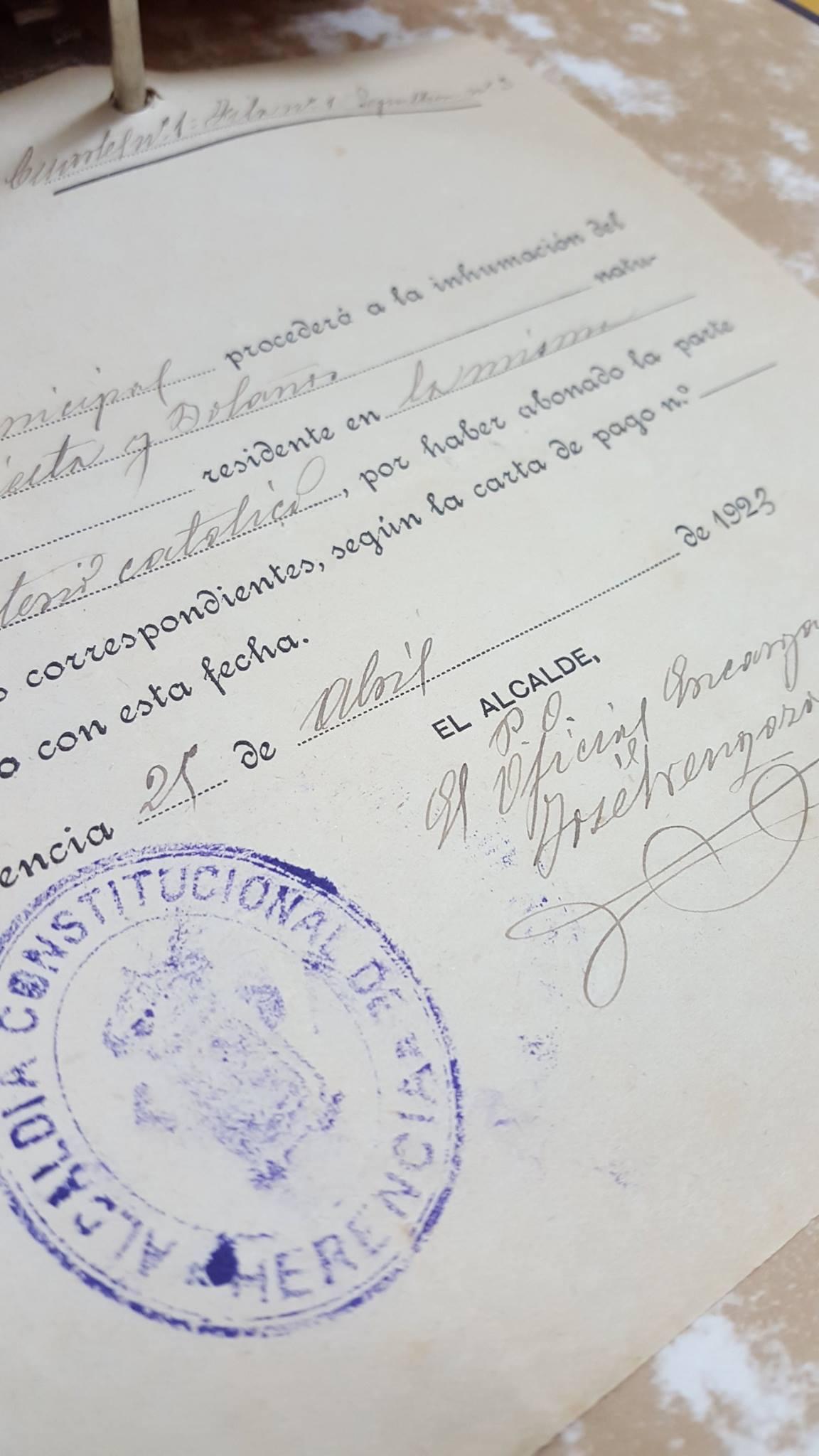 documento del patrimonio documental historico de herencia - Cuidando el patrimonio documental del municipio