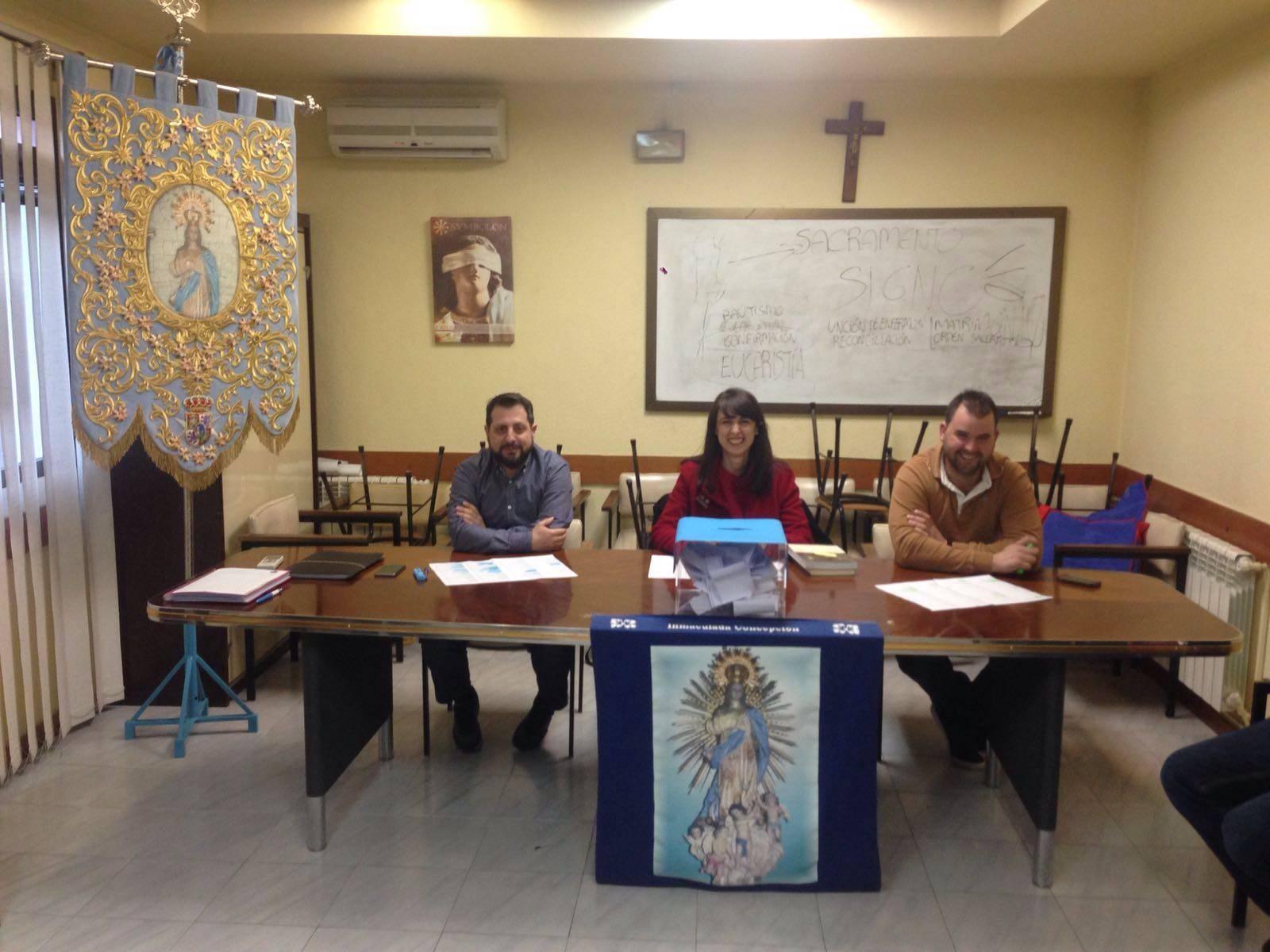 elecciones para la hermandad de la inmaculada - Elegido el primer presidente de la hermandad de la Inmaculada