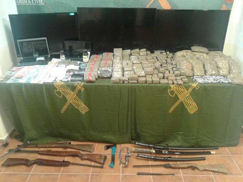 Operación contra el tráfico de drogas en Herencia 1