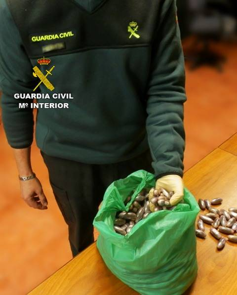 operación de la guardia civil en Herencia contra el trafico de drogas