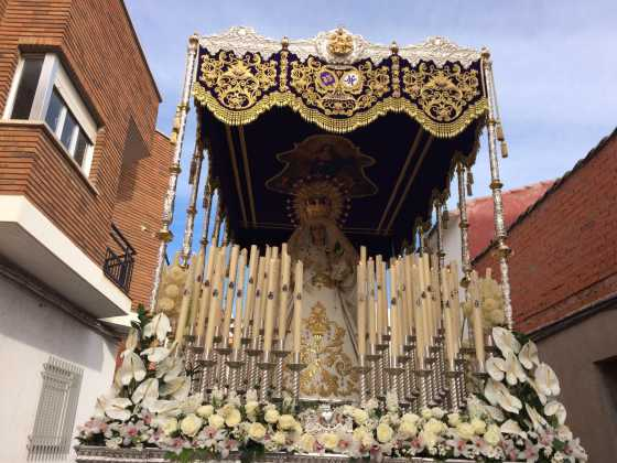 procesion del resucitado en herencia12 560x420 - Procesión del Resucitado en Herencia. Fotografías y vídeos
