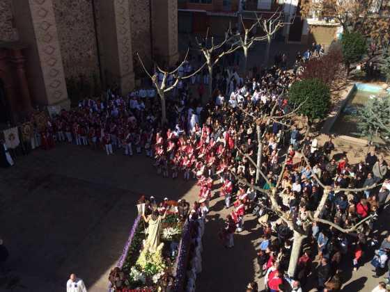 procesion del resucitado en herencia18 560x420 - Procesión del Resucitado en Herencia. Fotografías y vídeos