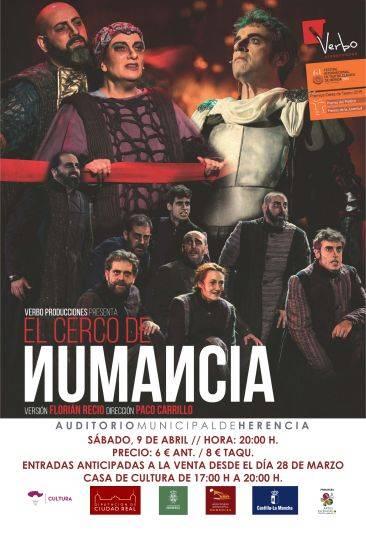 teatro en herencia CERCONUMANCIA - Programación cultural de primavera en el auditorio municipal