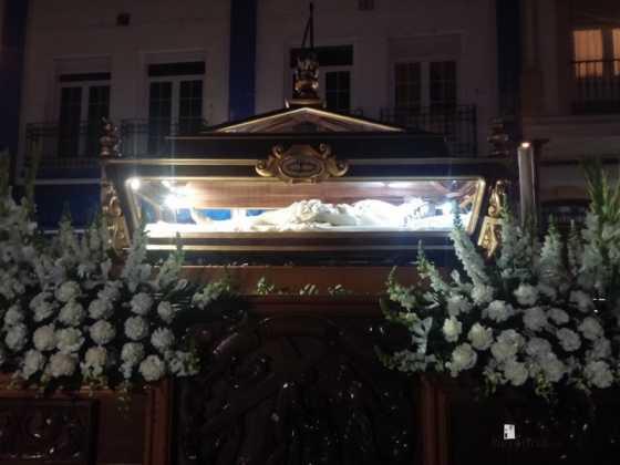 Cristo Yacente de Herencia 560x420 - Estación de Penitencia de la Cofradía del Santo Entierro