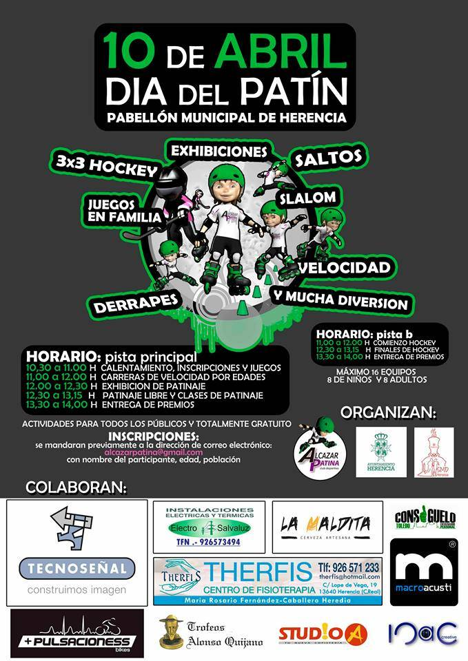 Dia del Patin en Herencia - El 10 de abril se celebrará el día del patín en Herencia