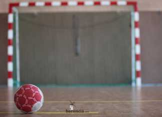 balonmano porteria y balón
