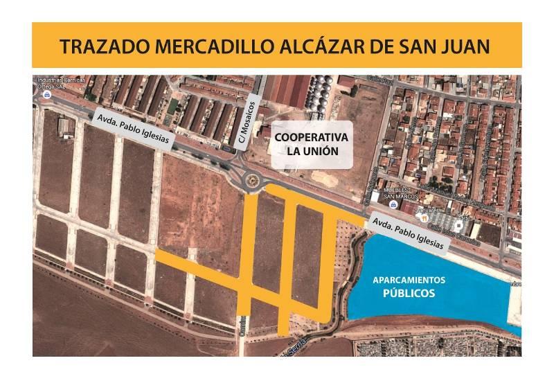 cambio ubicacion mercadillo de alcaza de san juan - El mercadillo se instalará frente a la cooperativa de La Unión