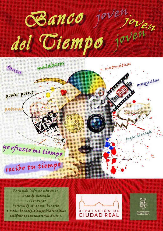 cartel del banco de tiempo en Herencia