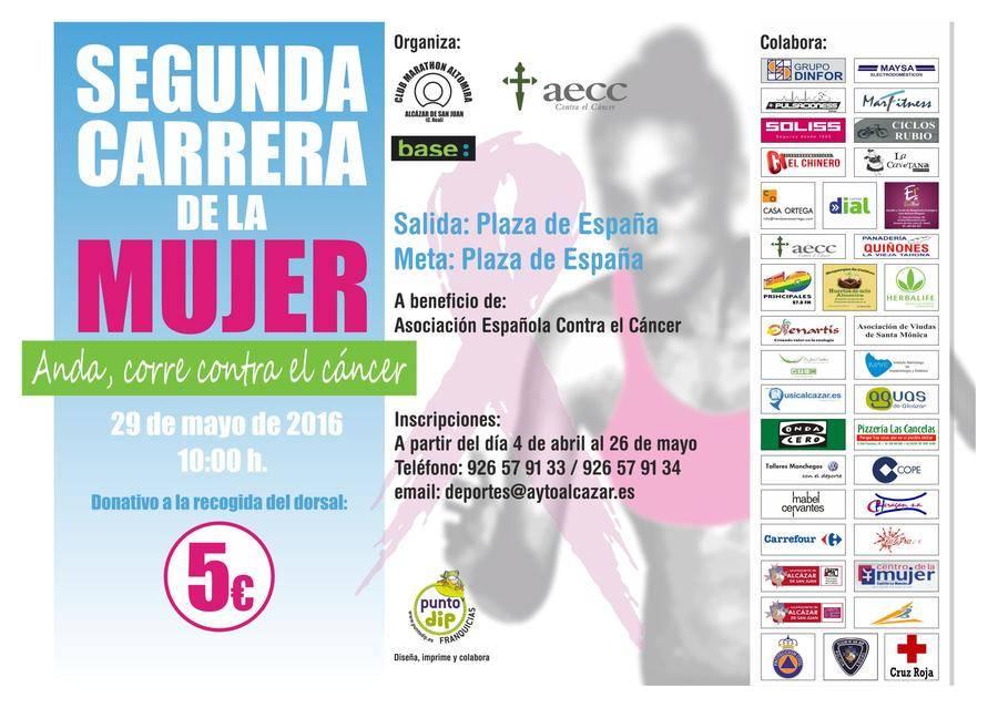 cartel segunda carrera de la mujer - Abierto el plazo de inscripción de la segunda Carrera de la Mujer