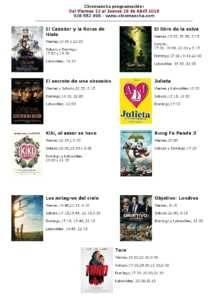 Cartelera Cinemancha del 22 al 28 de abril - Herencia.net