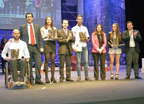 entrega de premios gala del deporte provincial de ciudad real en Herencia1 581x420 - Los mejores deportistas de la provincia son premiados en Herencia