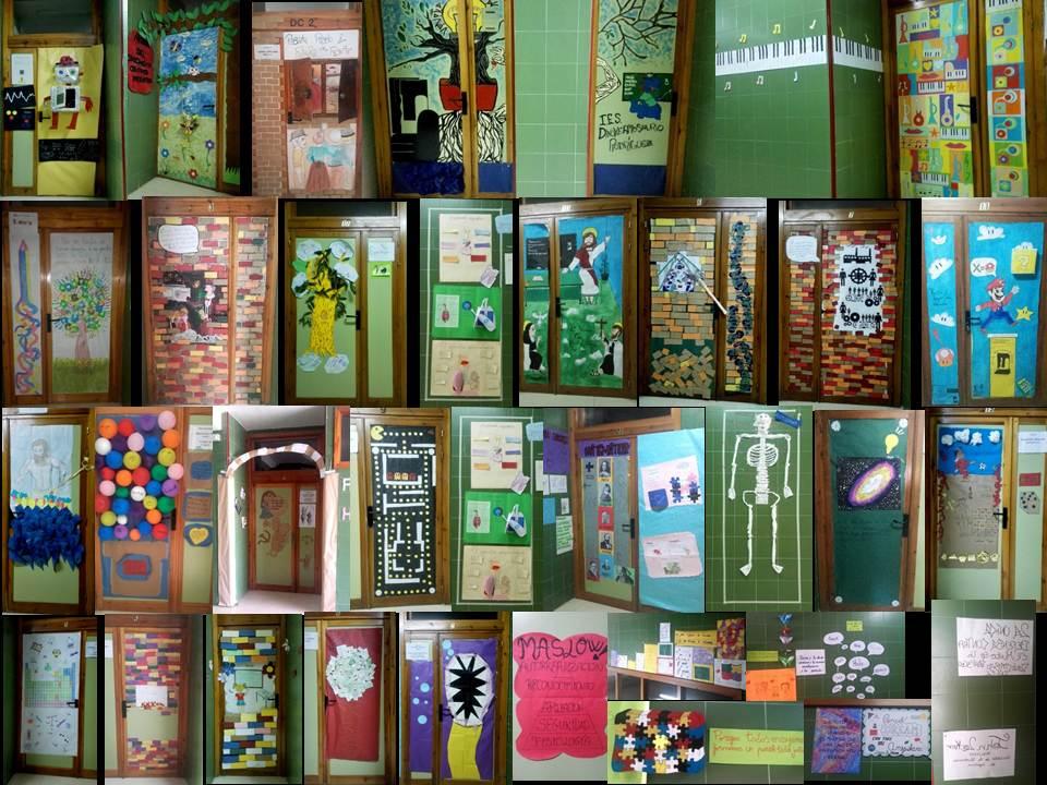 """la puerta del saber educacion - """"La puerta del Saber"""", una inundación de color por los pasillos del IES Hermógenes Rodríguez"""