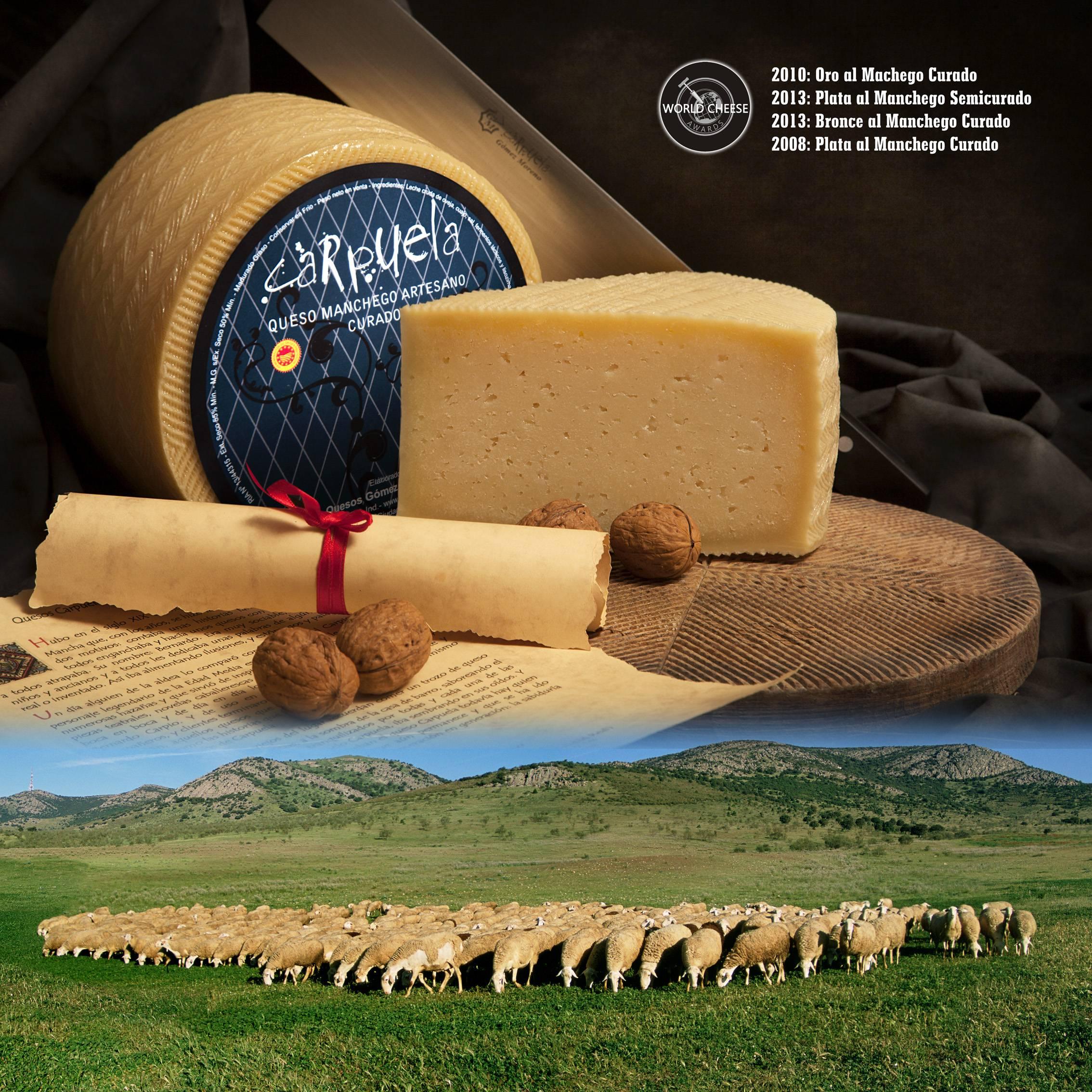 poster quesos gomez moreno en Herencia - Quesos Gómez Moreno premiado en el International Cheese  Awards 2019