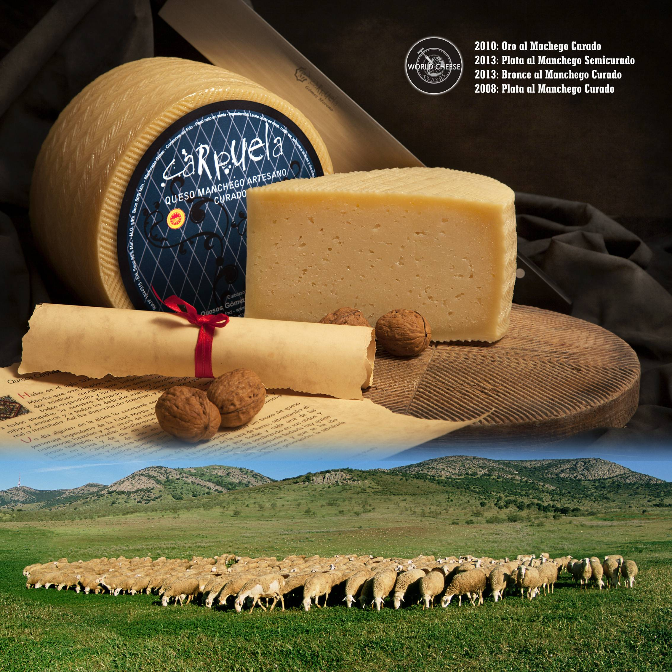 poster quesos gomez moreno en Herencia - Quesos Gómez Moreno premiado en el International Cheese  Awards 2019