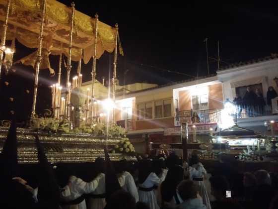 procesion viernes santo en Herencia 560x420 - Estación de Penitencia de la Cofradía del Santo Entierro