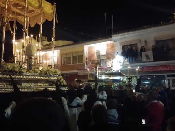 procesion viernes santo en Herencia2 560x420 - Estación de Penitencia de la Cofradía del Santo Entierro