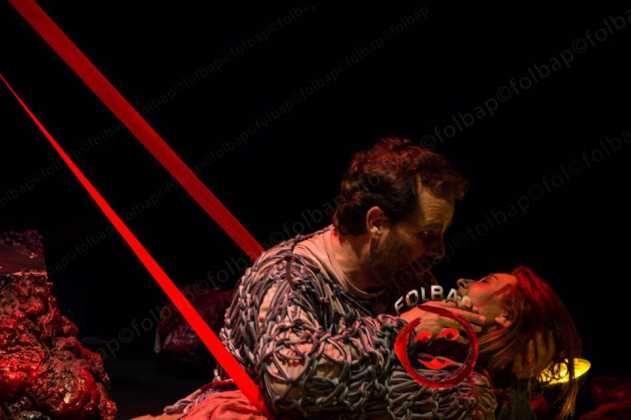 """teatro en herencia el cerco de numancia 3 631x420 - Lleno en el estreno """"El Cerco de Numancia"""" en Herencia"""