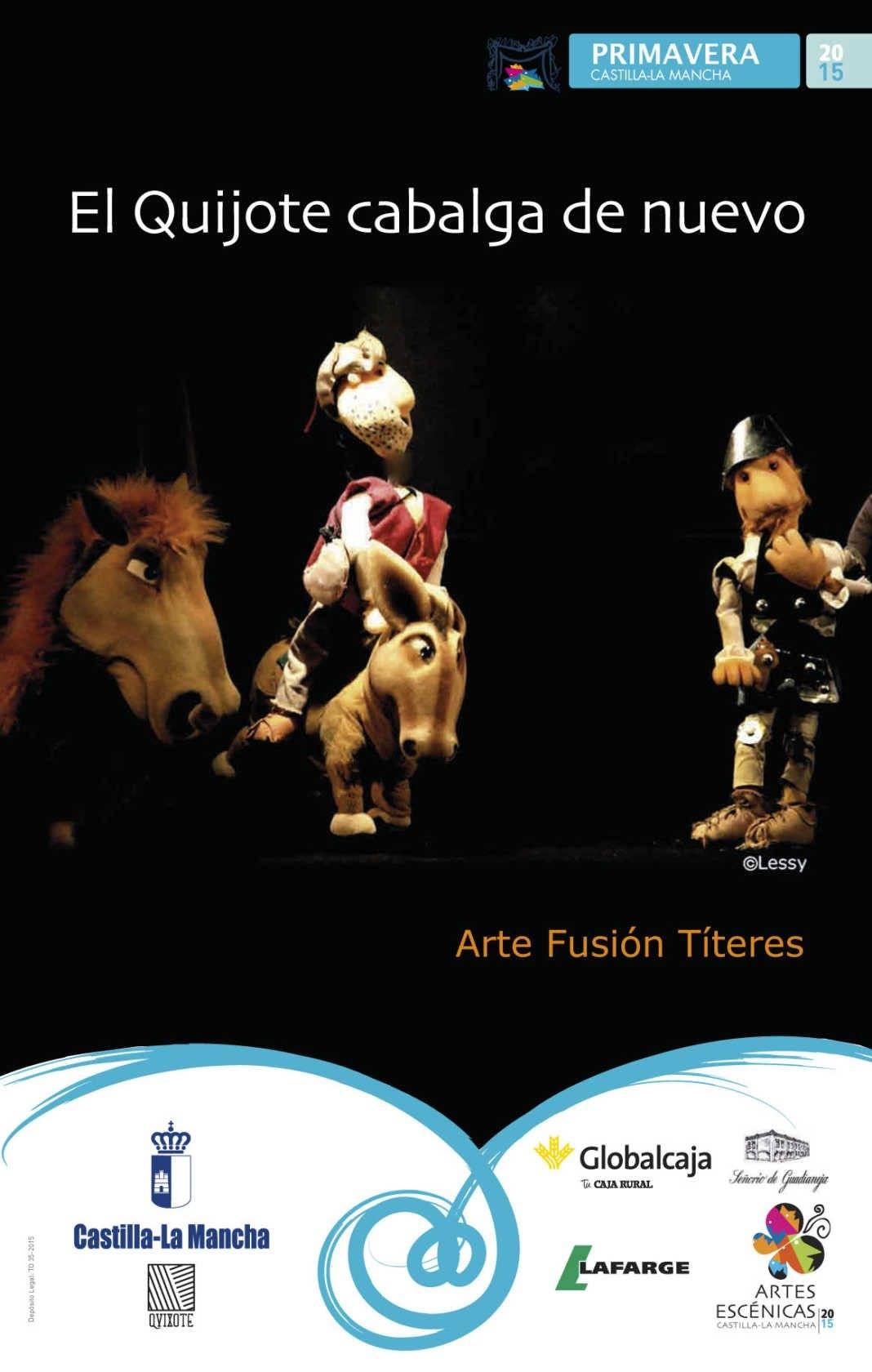 6837 cartel ARTE FUSION TITERES EL QUIJOTE CABALGA DE NUEVO 1068x1680 - El auditorio de Herencia vuelve abrir sus puertas a los escolares