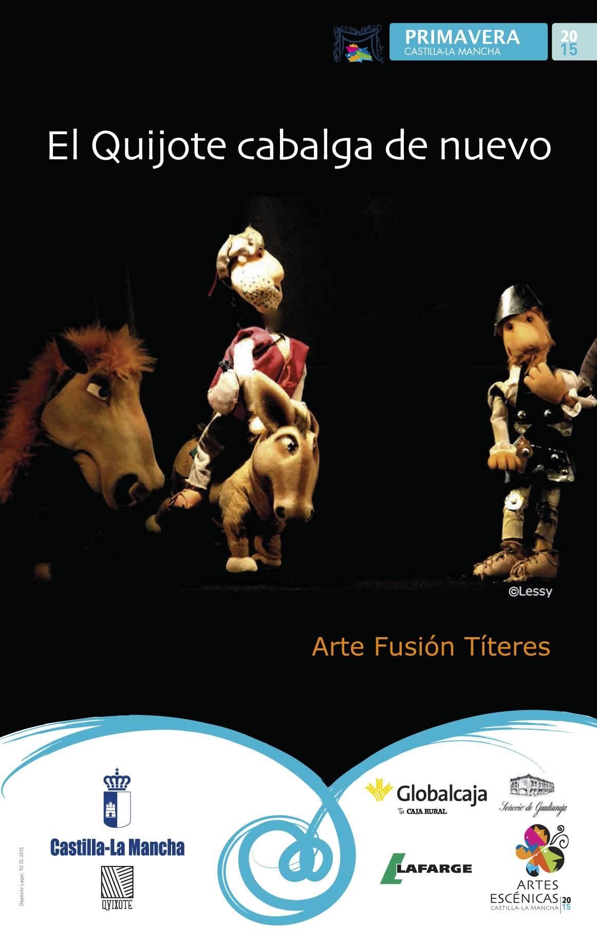 6837 cartel ARTE FUSION TITERES EL QUIJOTE CABALGA DE NUEVO - El auditorio de Herencia vuelve abrir sus puertas a los escolares