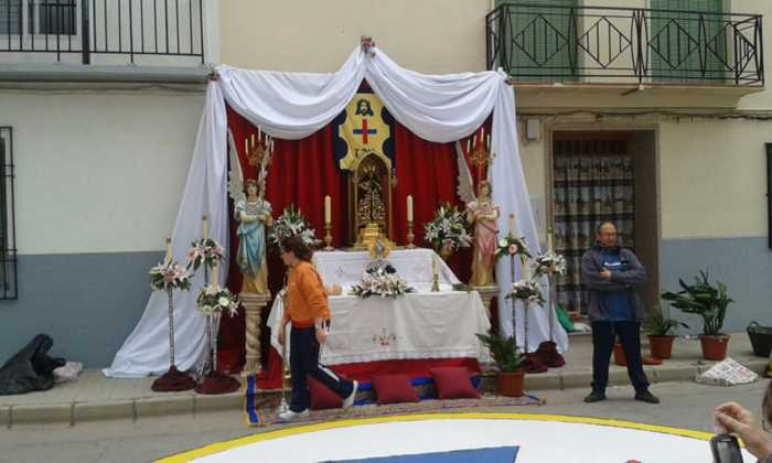 Altar del corpus en Herencia. Fotografía Cofradía Santo Entierro