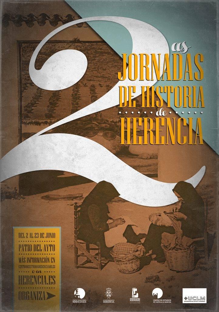 Cartel de las II Jornadas de Historia de Herencia - Vídeos de las II Jornadas de Historia de Herencia