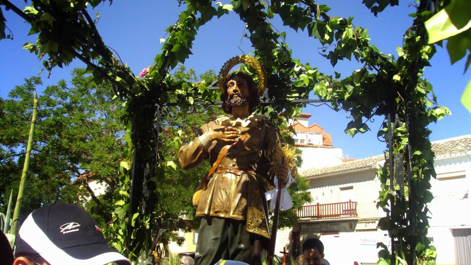 Procesión de san Isidro 2015. Fotografía de sancristobalherencia.blogspot.com.es