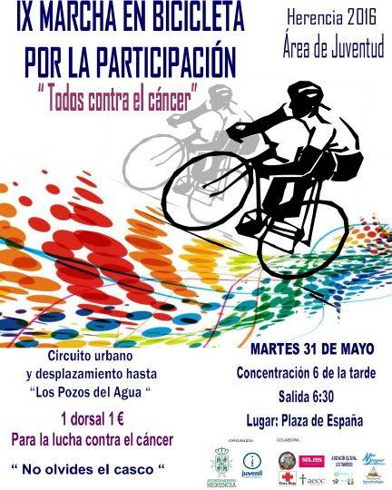 IX Marha en bicicleta contra el cancer en herencia