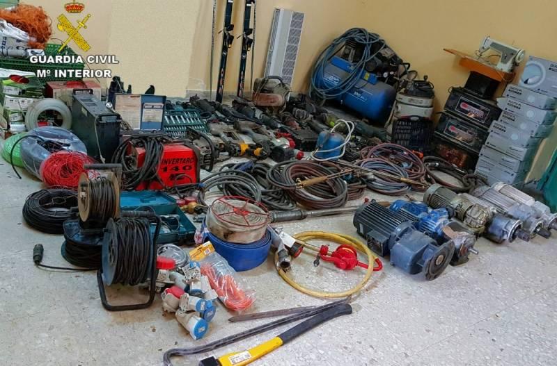 Detenidas ocho personas por seis robos en el polígono industrial de Herencia 1