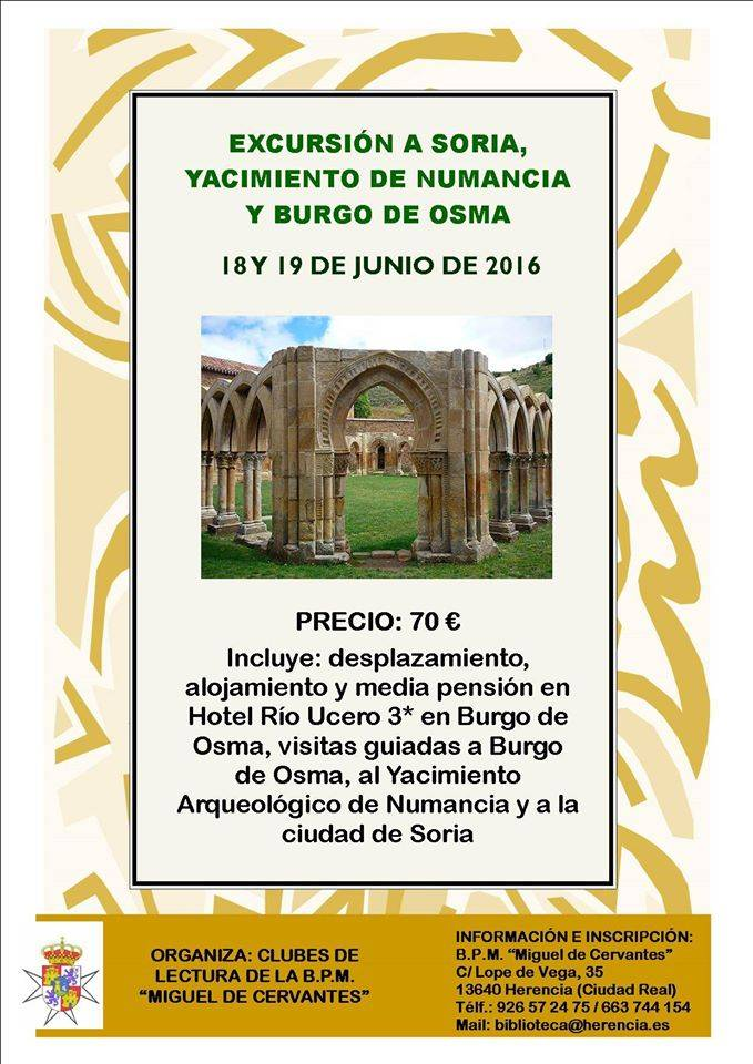 Viaje a Soria clubes de lectura de Herencia