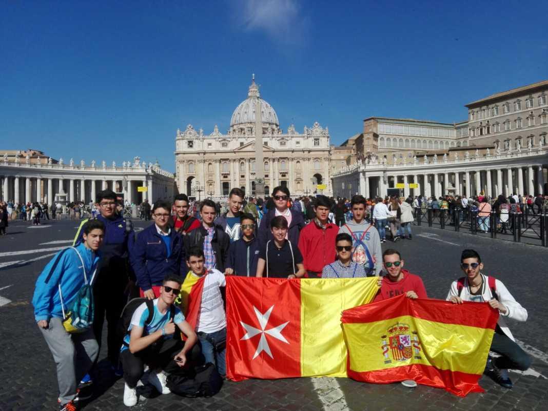 Alumnos del colegio mercedario de Herencia viajan a Roma 1