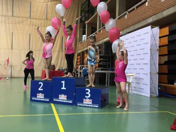 Cuatro medallas en Campeonatos Regionales de Gimnasia Rítmica 2