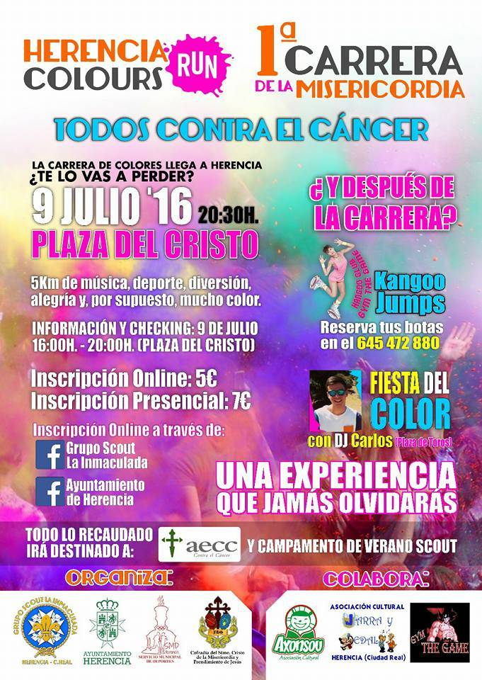 carrera herencia colours run