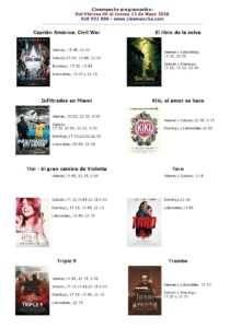 cartelera de cinemancha del 06 al 12 de mayo 210x300 - Cartelera Cinemancha del 6 al 12 de mayo