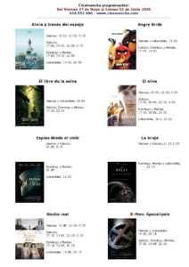 cartelera de cinemancha del 27 de mayo al 02 de junio