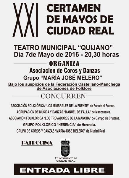 """certamen mayos de ciudad real con el grupo folclorico herencia - El grupo folklórico """"Herencia"""" en el XII Festival de Mayos de Ciudad Real"""