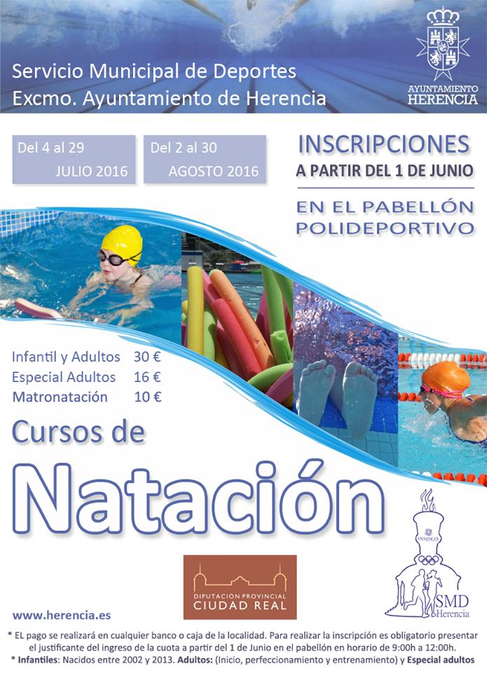 cursillos de natacion herencia 2016 - Abierto el plazo para los cursillos de natación 2016
