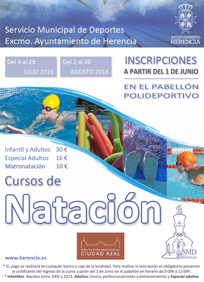 cursillos de natación Herencia 2016