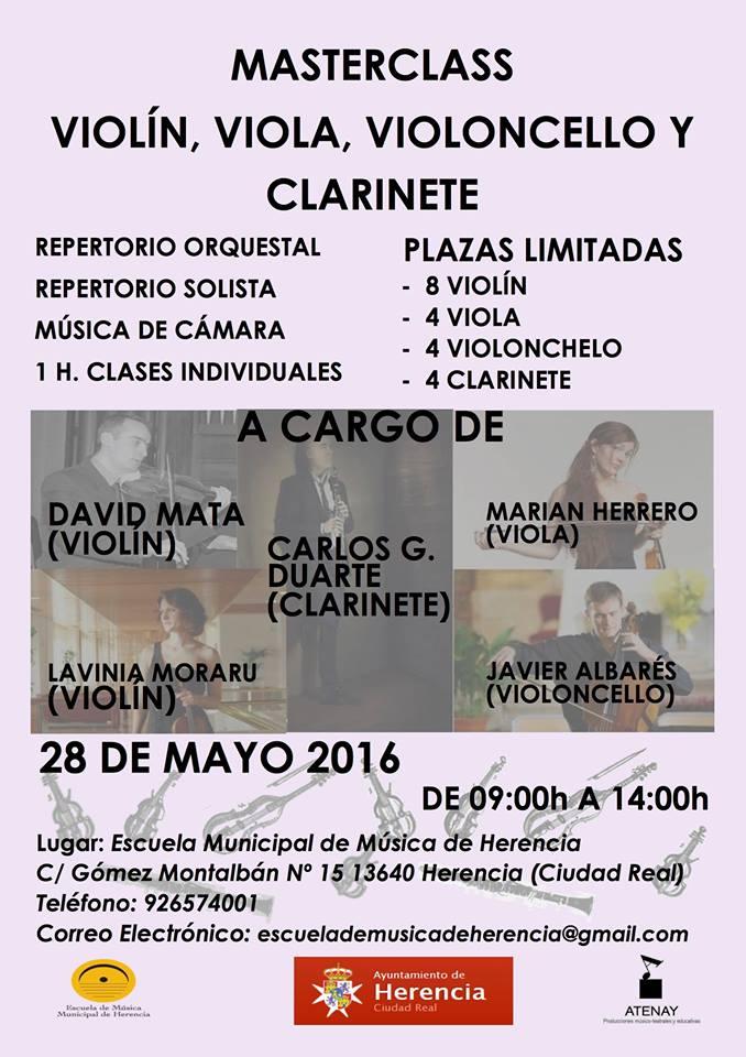 masterclass de musica herencia - Masterclass en Escuela de Música de Herencia