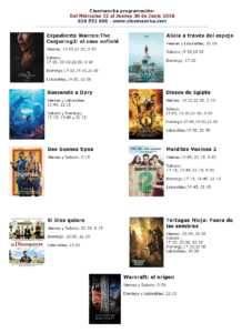 CARTELERA CORRECTA DEL CINEMANCHA DE L miercoles 22 al jueves 30 de junio