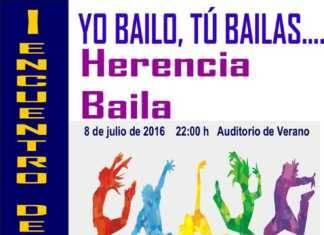 """Cartel I encuentro de danza """"Herencia Baila"""""""